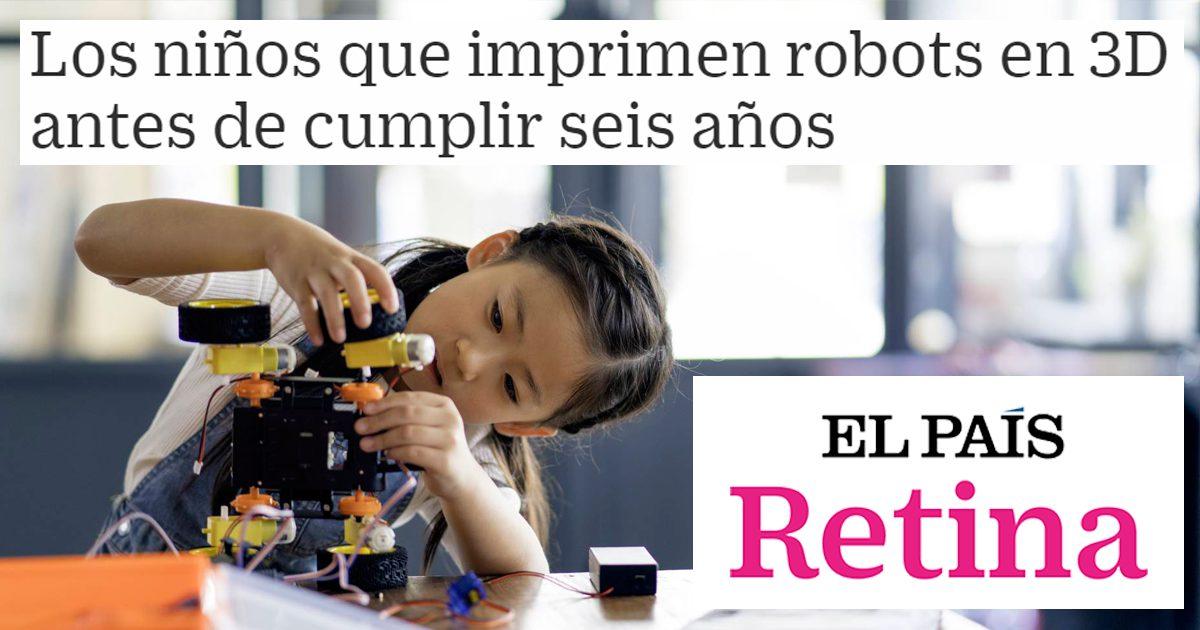 Los niños que imprimen robots en 3D antes de cumplir seis años
