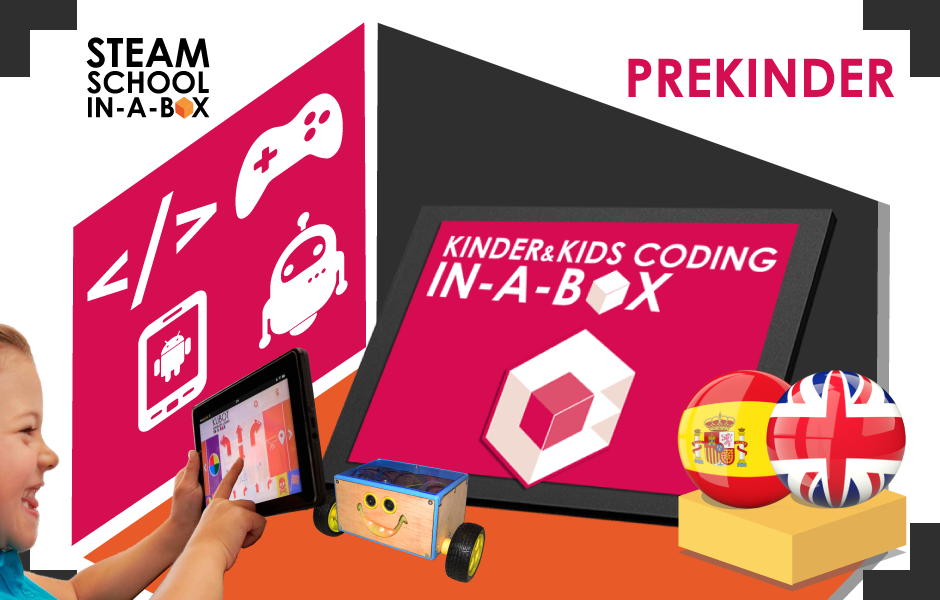 Kinder & Kids Coding In-a-box: PREKINDER (3 years-old)