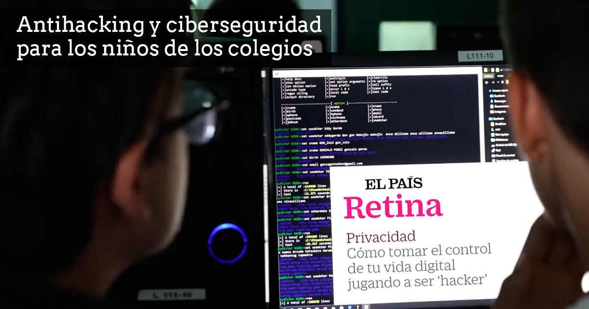 Antihacking y ciberseguridad para los niños de los colegios