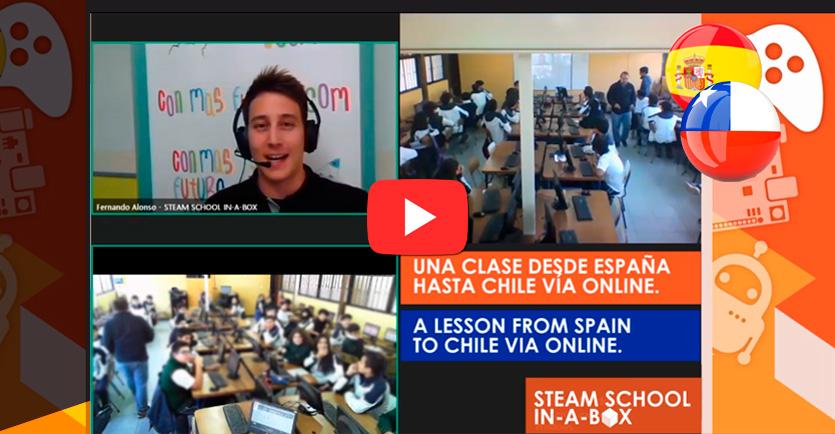 Una clase online en Chile desde España