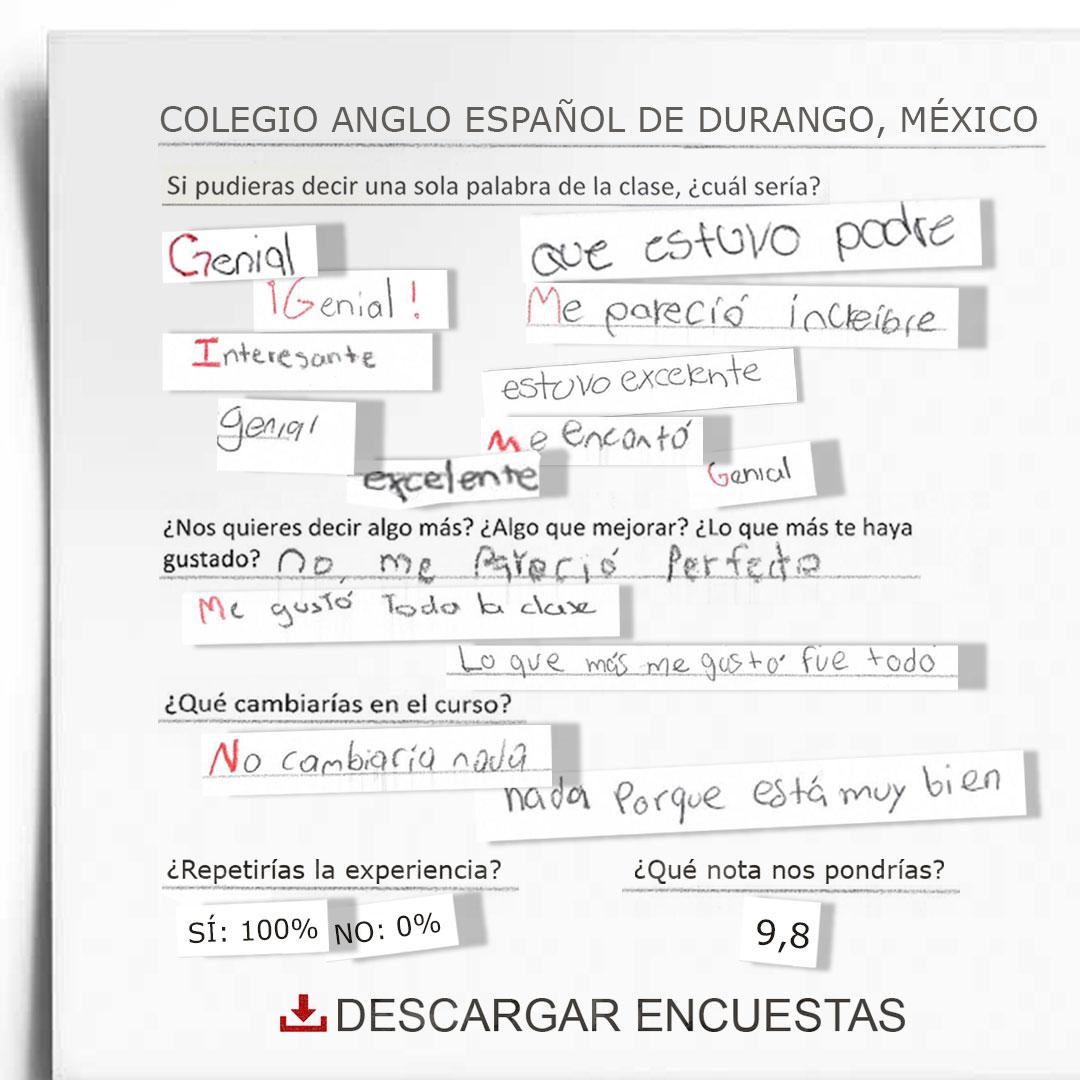 Encuestas Colegio Anglo Español de Durango (México)