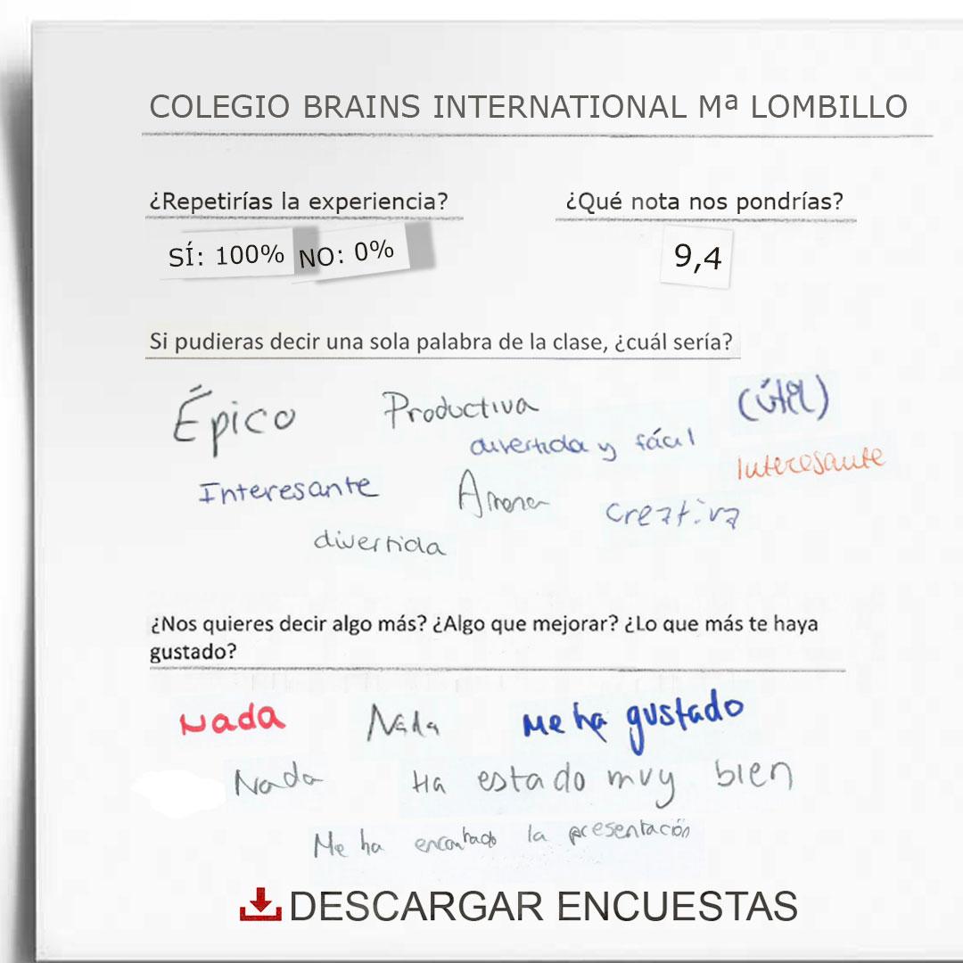 Encuestas Colegio Brains International Mª Lombillo