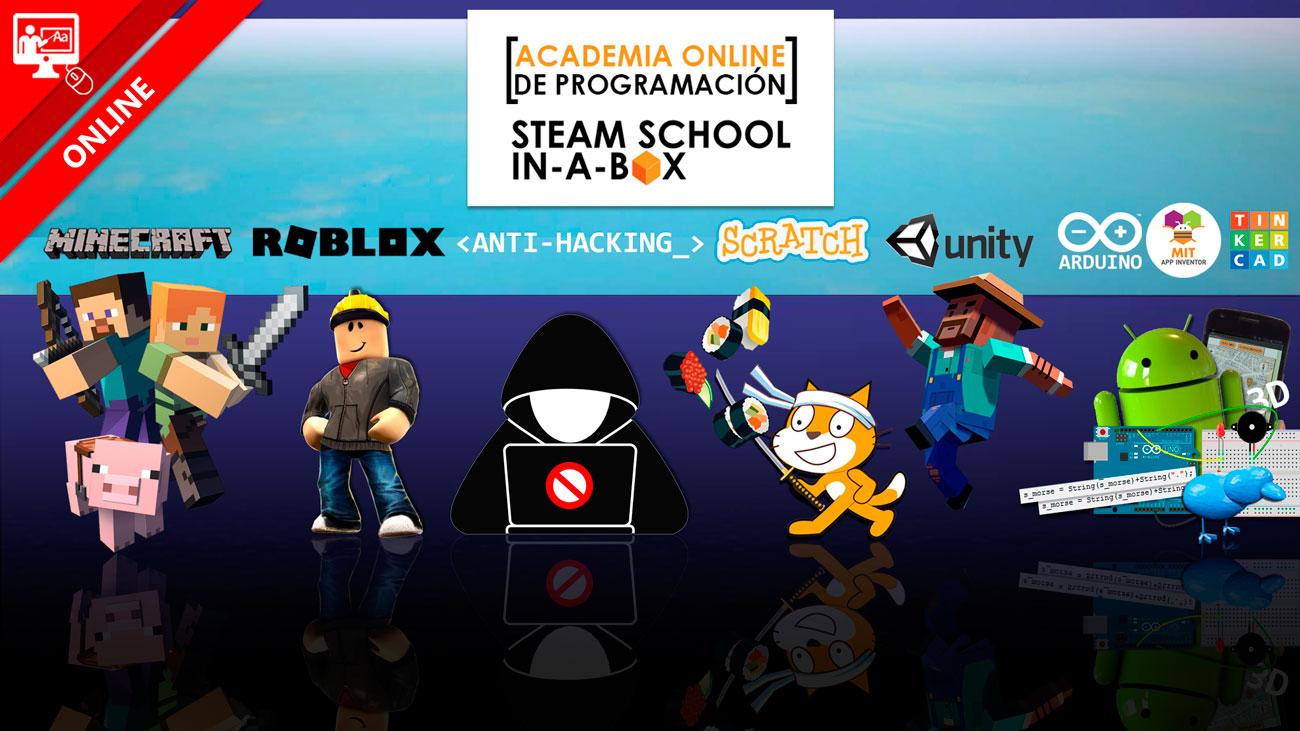 ACADEMIA ONLINE DE PROGRAMACIÓN STEAM SCHOOL IN-A-BOX