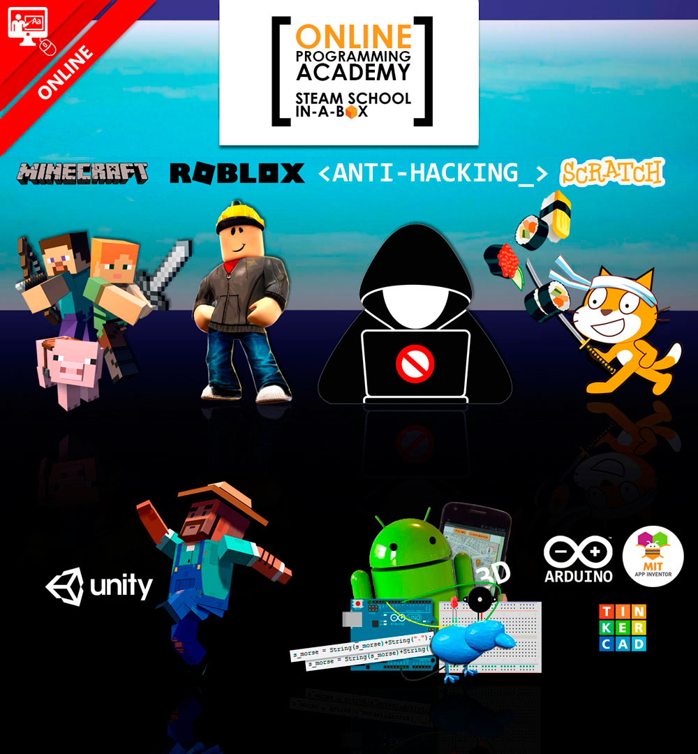 CATALOGUE STEAM SCHOOL IN-A-BOX ONLINE PROGRAMMING ACADEMY