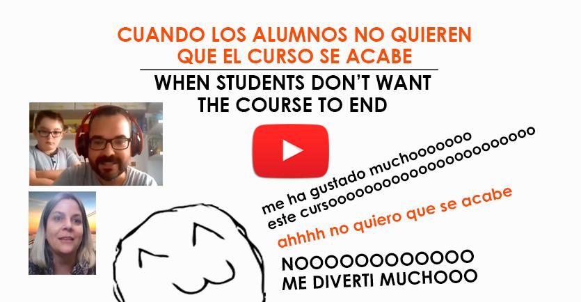 Cuando los alumnos no quieren que el curso se acabe