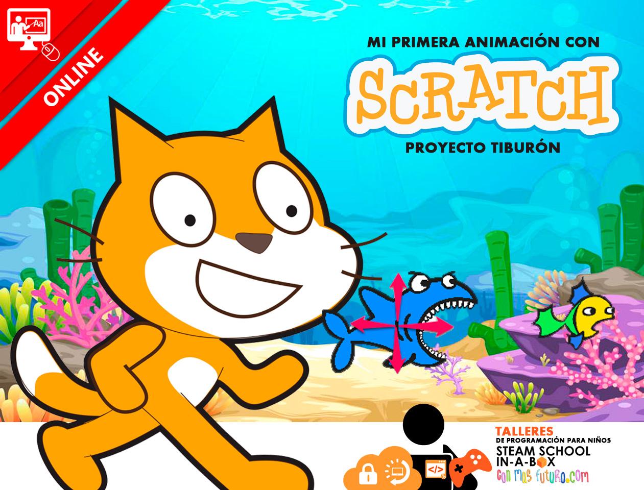 Taller Online Mi primera animación con Scratch