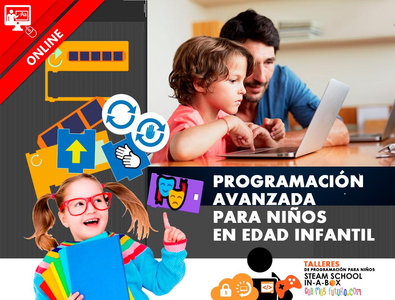 Taller Online Programación Avanzada para niños en edad infantil