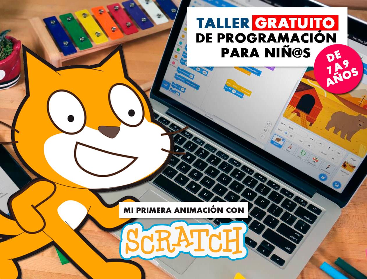 Taller Gratuito de programación de videojuegos con Scratch